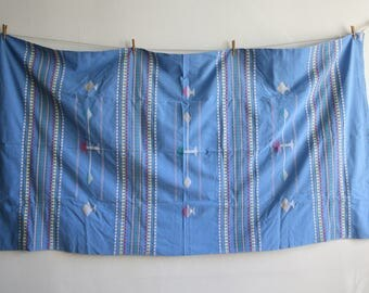 Blue Fish Woven Table Cloth