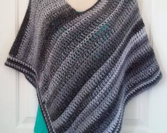 Poncho - Gray and Black