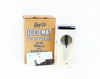 Vintage 1950's Ice-O-Mat Ice Crusher in Original Box