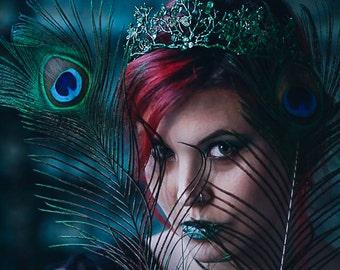 Mermaid circlet marine crown elven turquoise green Tiara Romanthic pre raphaelite lolita