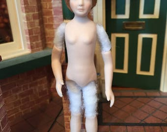 Handmade 1/12 th scale  dolls house doll-Ready to dress