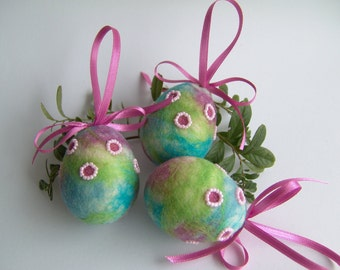 Easter Eggs - Hanging Eggs - Spring Egg Ornament - Multicolor Ornament