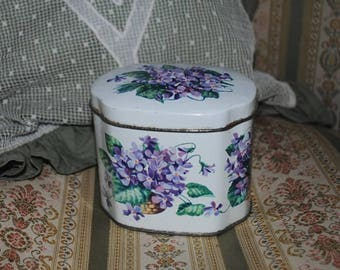 Antique TIN BOX VIOLETS Huntley & Palmers