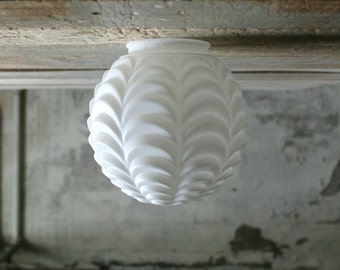 Vintage Ceiling Ruffled Light Fixture Globe
