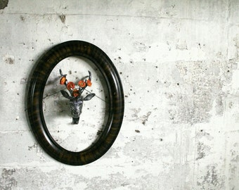 Vintage Wooden Oval Frame