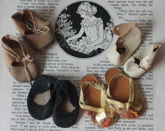 Lot of Vintage Doll Shoes Vintage Doll Shoes