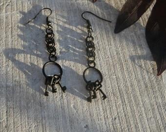 Jailer's Keys Earrings