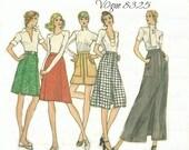 Vintage Vogue 8325 A Line Skirt in 5 Lengths Waist 30