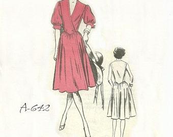 Dress Pattern Full Skirt Bust 36 Unused Prominent Designer A642 Regina Kravitz