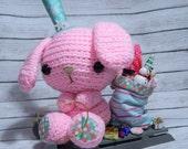 Christmas Amigurumi Bunny Clause Holiday Decoration