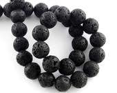 """94 Lava Beads 4.5mm Full 15.7"""" Inch Strand Natural Lava Rock Approx 94 Beads BD1101"""