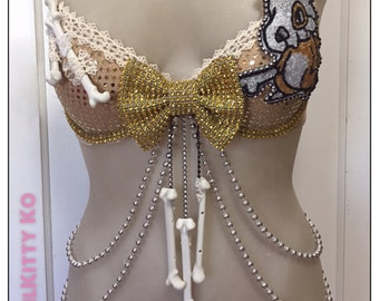 Cubon - custom sparkly bra Pokemon inspired