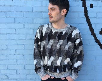 FREE SHIPPING!: Vintage 1990's Men's Protege Oversized Knit Pullover Sweater