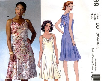 McCall's M4869 Sewing Pattern for Misses' Dress - Uncut - Size 12, 14, 16, 18
