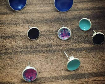 Candy Button Stud Earrings