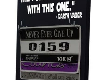 running, Race Bib Holder and medal hanger - Star Wars inspired - The force is strong with this one. Darth Vader