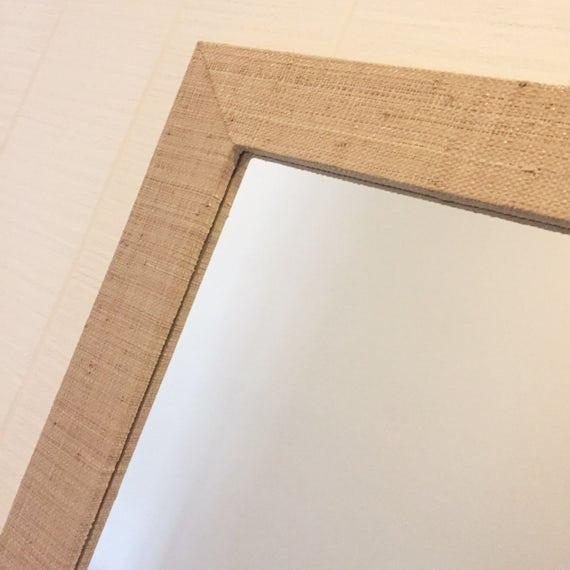 Custom Grasscloth Mirror