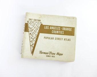 Vintage 1967 Thomas Guide Los Angeles Street Atlas Map Book LA City