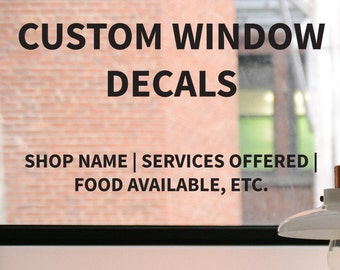 Custom Window Decal Etsy - Window decals custom business