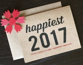 New Years Cards - Set of 10 - Happy 2017 - Recycle Holiday Cards