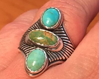 Carolyn Pollack TURQUOISE STERLING SILVER Ring Size 9.5