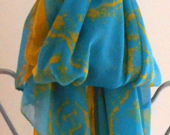 Cotton Scarf,Turquoise Cotton Scarf,Extra long cotton scarf,Beach Sarong,Summer Scarves,Gifts for Her, Mother's Day Gift,Horse Print Scarf