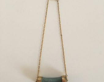 Vintage Stone Necklace Chain Choker