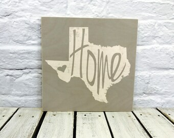 state sign, home state sign, Texas, wedding gift, Wall decor, housewarming gift, personalized wood state sign, home sign, farmhouse decor