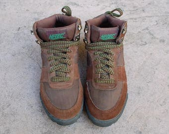 Vintage Womens 10 Hi Tec Lady Topaz Classic Hiking Boots Sport Shoes Alpine Hiker Trekking Hightops Lace up Booties Tie Sneakers Hipster