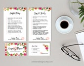 Floral Watercolor Business Card Bundle - Brand Set
