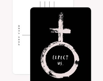 Set of 3 Postcards - Expect Us