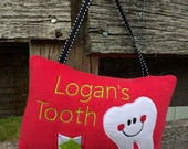 Personalized Tooth Fairy Pillow for Boys - Many color options available!
