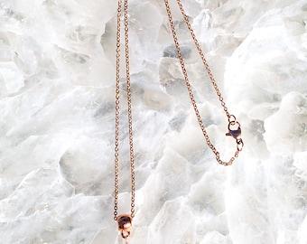ROSE GOLD Smokey QUARTZ Pendant Necklace