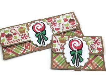 Christmas gift card holder, money card, Christmas money holder, money envelope, cash envelope, gift card envelope, christams gift,