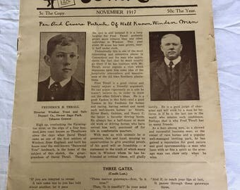 Windsor Town Crier 1917 newspaper with Franklin one cent stamp