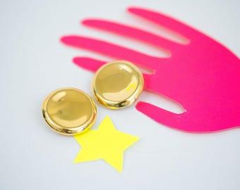 Gold Dot Clip-on Earrings