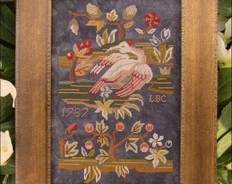 NEW Swan Garden Nashville Market 2017 Kathy Barrick cross stitch pattern mother's day gift for her