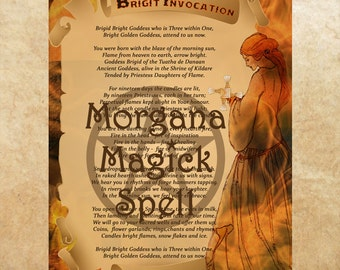 GODDESS BRIGID INVOCATION,Digital Download, Imbolc,Book of Shadows,Grimoire, Scrapbook,Wicca, Pagan, Witchcraft, White Magick, Magick Spell