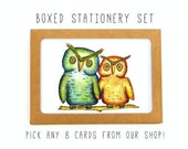 Boxed CARD SET - VARIETY Pack of 8 Cards + Envelopes - Stationery pack, thank you cards, note card pack