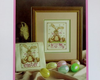 Counted Cross Stitch Pattern BABBIT'S EASTER Towel & Picture By Lavender Wings