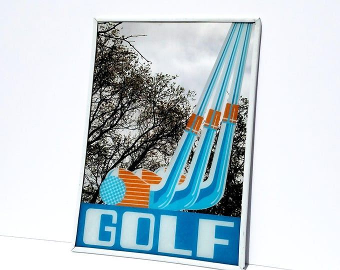 Vintage Golf Graphic Wall Mirror