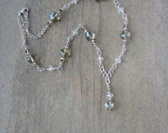 Crystal and Sterling Silver Necklace
