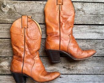 5 B | Vintage Justin Heeled Western Boots