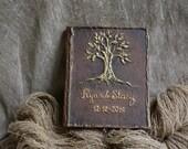 Special listing For sabita4u Rustic Wedding Guest book set, Wedding tree guest book, Tree of life guest book, Rustic wedding guest book.