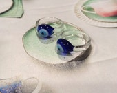 Glass Evil Eye  Ring Anti Envy
