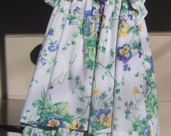 Girls Spring Summer Floral Dress US Size 5 ~ Peaches 'n Cream