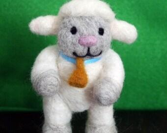 Sebastian Sheep Needle Felted Wool Figurine