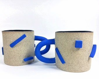 Electric Blue Dash Mugs