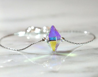 Spike bracelet, dainty bracelet , Swarovski Spike bracelet, Bridesmaid gifts, Bridal bracelet, stacking bracelet, Swarovski bracelet,
