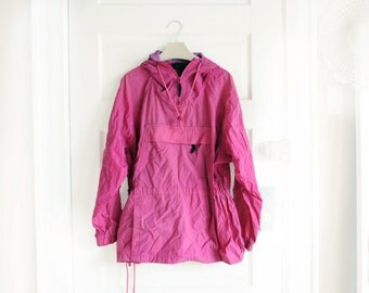 Vintage Eddie Bauer Purple Windbreaker Jacket, Womens Size XL / ITEM709